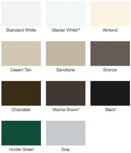 color swatches for garage doors